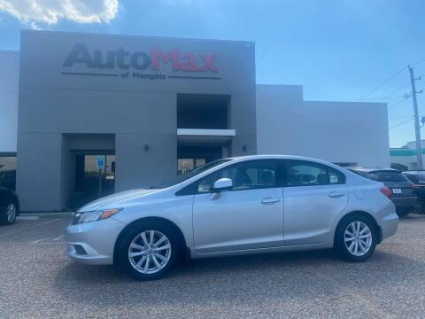 2012 Honda Civic for sale at AutoMax of Memphis - Alex Vivas in Memphis TN