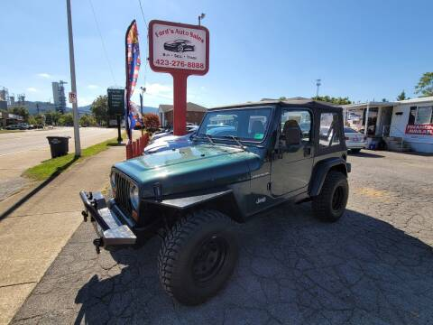 2000 Jeep Wrangler for sale at Ford's Auto Sales in Kingsport TN