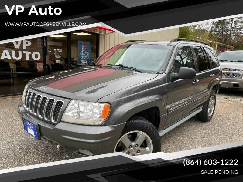 2002 Jeep Grand Cherokee for sale at VP Auto in Greenville SC