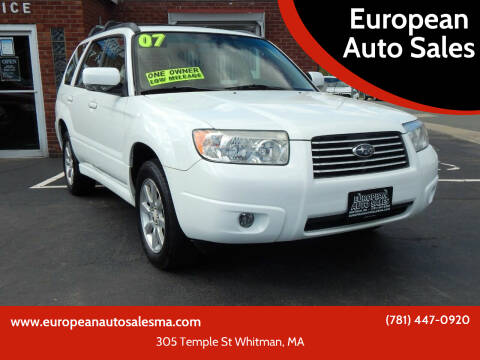 2007 Subaru Forester for sale at European Auto Sales in Whitman MA