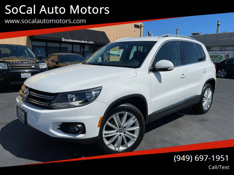 2012 Volkswagen Tiguan for sale at SoCal Auto Motors in Costa Mesa CA