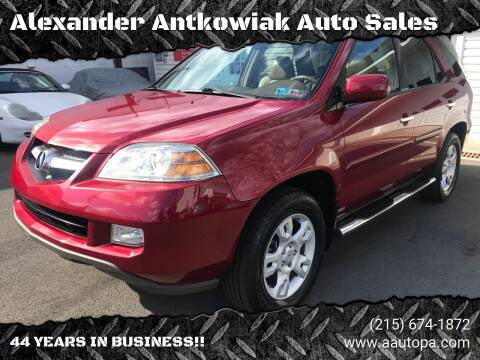 2005 Acura MDX for sale at Alexander Antkowiak Auto Sales in Hatboro PA