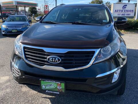 2012 Kia Sportage for sale at Auto Union LLC in Virginia Beach VA