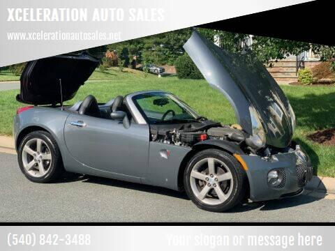 2008 Pontiac Solstice for sale at XCELERATION AUTO SALES in Chester VA