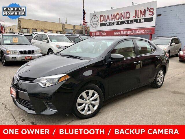2016 Toyota Corolla for sale at Diamond Jim's West Allis in West Allis WI