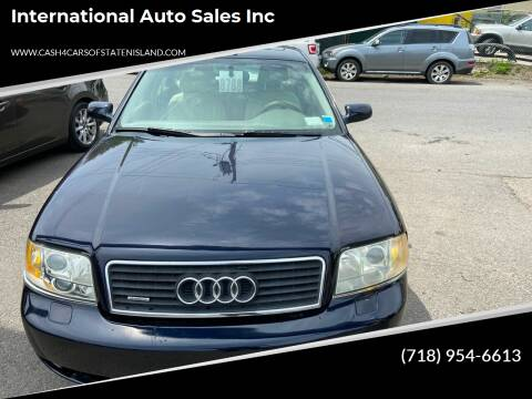 2002 Audi A6 for sale at International Auto Sales Inc in Staten Island NY