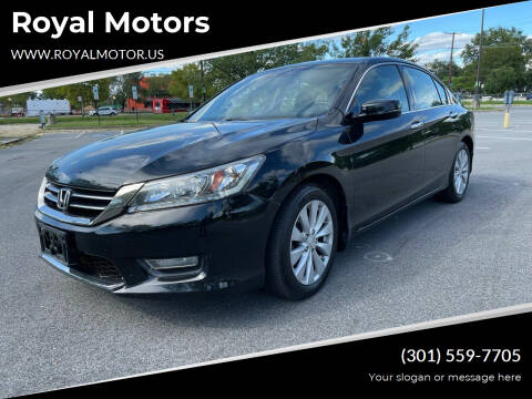 2013 Honda Accord for sale at Royal Motors in Hyattsville MD