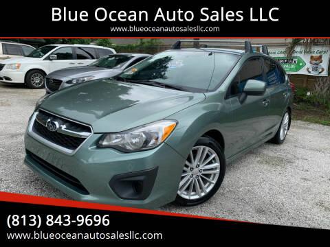 2014 Subaru Impreza for sale at Blue Ocean Auto Sales LLC in Tampa FL