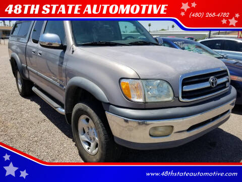 2002 Toyota Tundra for sale at 48TH STATE AUTOMOTIVE in Mesa AZ