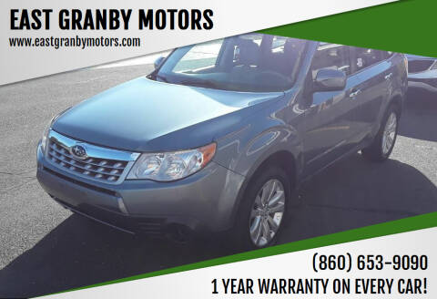 2011 Subaru Forester for sale at EAST GRANBY MOTORS in East Granby CT