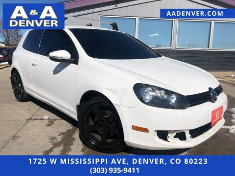 2013 Volkswagen Golf for sale at A & A AUTO LLC in Denver CO