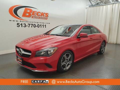 2018 Mercedes-Benz CLA for sale at Becks Auto Group in Mason OH