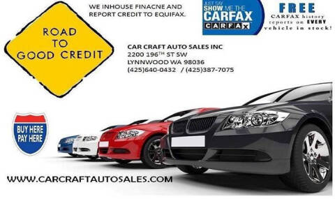 2008 Toyota Camry for sale at Car Craft Auto Sales Inc in Lynnwood WA