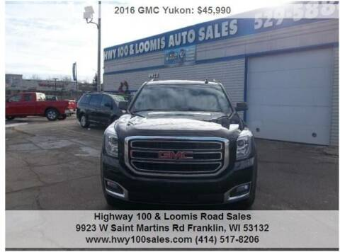 2016 GMC Yukon for sale at Highway 100 & Loomis Road Sales in Franklin WI