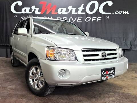 2007 Toyota Highlander for sale at CarMart OC in Costa Mesa, Orange County CA