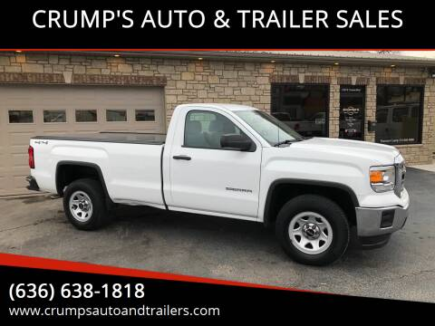 2015 GMC Sierra 1500 for sale at CRUMP'S AUTO & TRAILER SALES in Crystal City MO