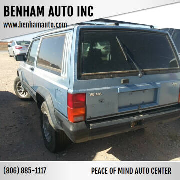 1985 Jeep Cherokee for sale at BENHAM AUTO INC in Lubbock TX