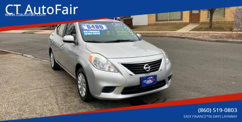 2012 Nissan Versa for sale at CT AutoFair in West Hartford CT