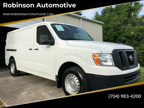 2015 Nissan NV Cargo for sale at Robinson Automotive in Albermarle NC