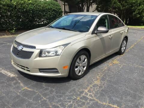 2013 Chevrolet Cruze for sale at Key Auto Center in Marietta GA