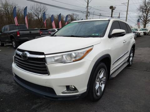 2015 Toyota Highlander for sale at P J McCafferty Inc in Langhorne PA