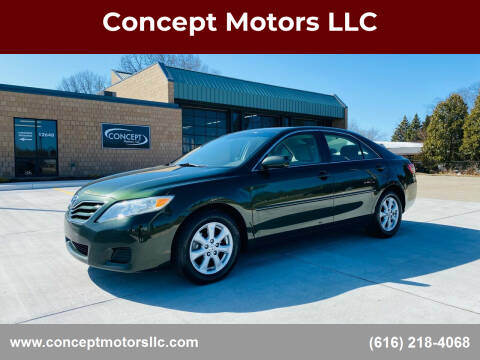 2010 Toyota Camry for sale at Concept Motors LLC in Holland MI