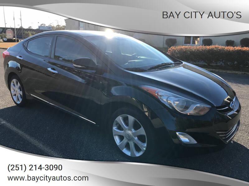 2011 Hyundai Elantra for sale at Bay City Auto's in Mobile AL