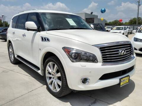 2014 Infiniti QX80 for sale at A & V MOTORS in Hidalgo TX