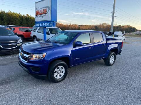 2016 Chevrolet Colorado for sale at Billy Ballew Motorsports in Dawsonville GA