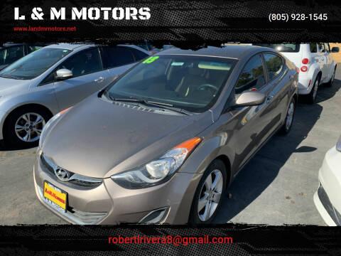 2013 Hyundai Elantra for sale at L & M MOTORS in Santa Maria CA