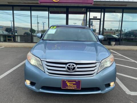 2012 Toyota Avalon for sale at Greenville Motor Company in Greenville NC