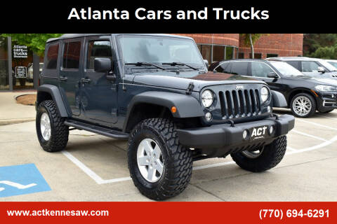2016 Jeep Wrangler Unlimited for sale at Atlanta Cars and Trucks in Kennesaw GA