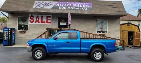 2000 Dodge Dakota for sale at Ritz Auto Sales, LLC in Paintsville KY
