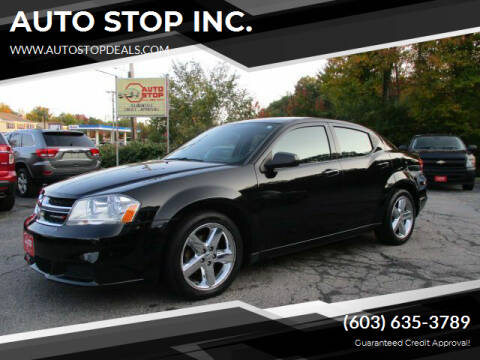 2014 Dodge Avenger for sale at AUTO STOP INC. in Pelham NH