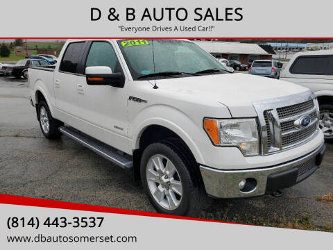2011 Ford F-150 for sale at D & B AUTO SALES in Somerset PA