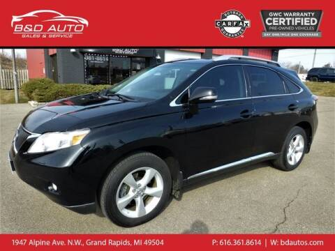 2010 Lexus RX 350 for sale at B&D Auto Sales Inc in Grand Rapids MI