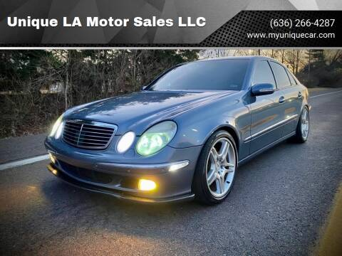 2003 Mercedes-Benz E-Class for sale at Unique LA Motor Sales LLC in Byrnes Mill MO