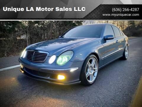2003 Mercedes-Benz E-Class for sale at Unique LA Motor Sales LLC in Byrnes Mill MO