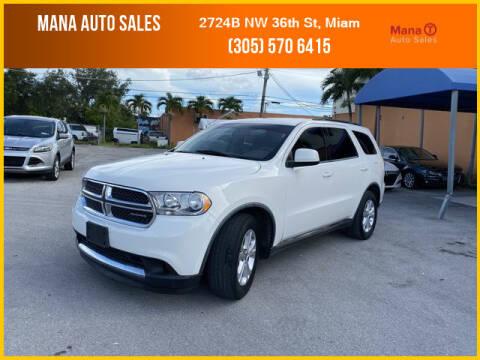2011 Dodge Durango for sale at MANA AUTO SALES in Miami FL