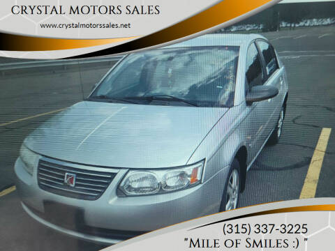 2007 Saturn Ion for sale at CRYSTAL MOTORS SALES in Rome NY
