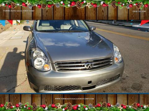 2006 Infiniti G35 for sale at TURBO Auto Sales First Corp in Yonkers NY