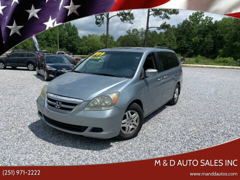 2006 Honda Odyssey for sale at M & D Auto Sales Inc in Foley AL