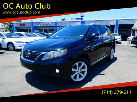 2012 Lexus RX 350 for sale at OC Auto Club in Midway City CA