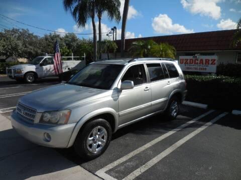 2001 Toyota Highlander for sale at Uzdcarz Inc. in Pompano Beach FL