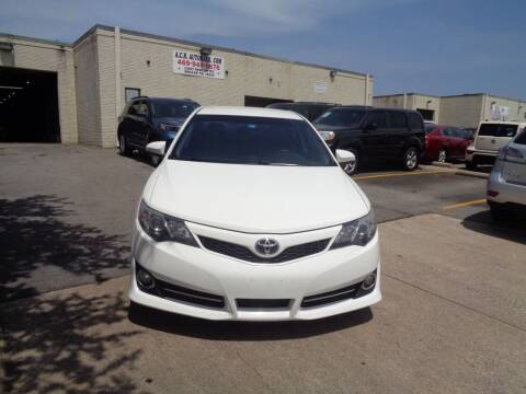2013 Toyota Camry for sale at ACH AutoHaus in Dallas TX