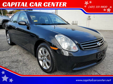 2006 Infiniti G35 for sale at CAPITAL CAR CENTER in Providence RI