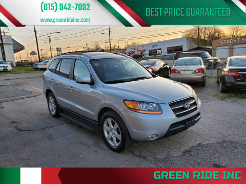 2009 Hyundai Santa Fe for sale at Green Ride Inc in Nashville TN