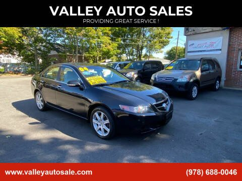 2004 Acura TSX for sale at VALLEY AUTO SALES in Methuen MA