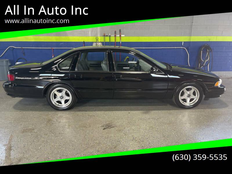 1995 Chevrolet Impala for sale at All In Auto Inc in Addison IL