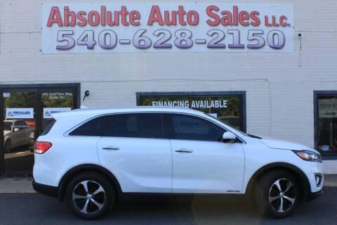 2017 Kia Sorento for sale at Absolute Auto Sales in Fredericksburg VA